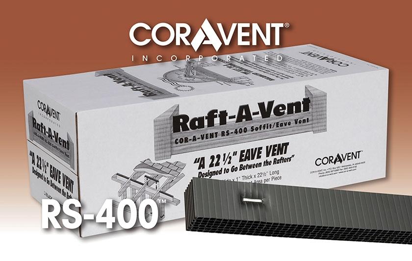 Cor-A-Vent RS-400 Raft-A-Vent Soffit Vent