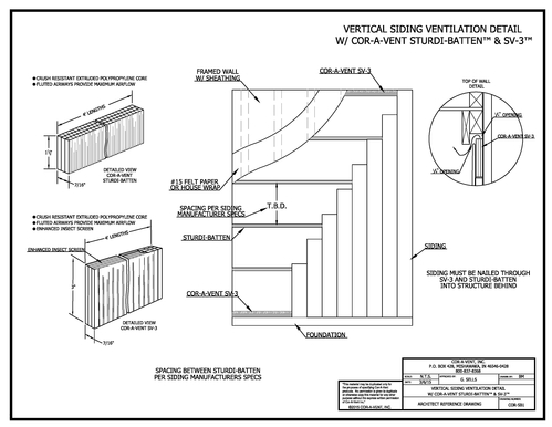 Sturdi-Batten vertical siding detail